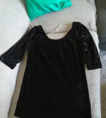 Crna plišana majica