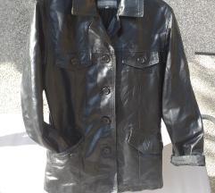 Lijepa  crna jakna /sako od prave kože 38