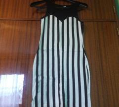 Prugasta bodycon haljina