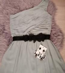 Maxi haljina na jedno rame H&m