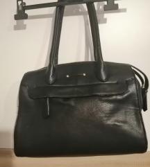 velika crna kožna torba