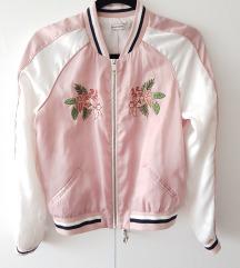 Rozo-bijela bomber jakna