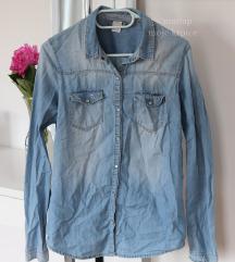 Berskha plava jeans košulja-malo nošena