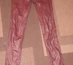 Bordo hlače od umjetne kože
