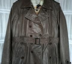 TREND sivo smeđa kožna jakna 44 xl xxl