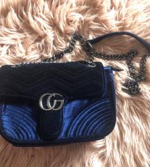 Plava plišana torbica