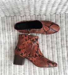 MANGO crvene kožne zmijske čizme