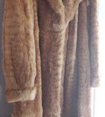 Duga bunda od krzna lisice 42/44