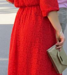 Desiinia crvena haljina od čipke S/M