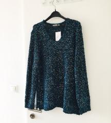 NOVI S ETIKETOM sequin pulover
