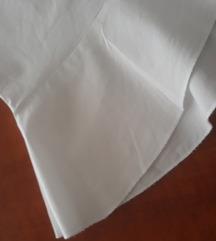 Popelin bijela košulja/haljina/tunika