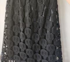 Crna skull suknja