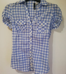 H&M plava košulja kratkih rukava