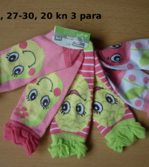 Nove čarape sokne, 4-6 g. 27-30, 3 para