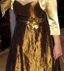 Svecana zlatna haljina L - ja placam pt