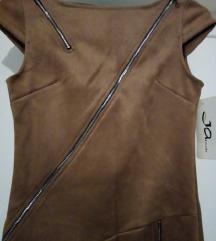 NOVA kozna haljina sa zipovima
