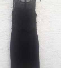 crna haljina sa perlicama pt uključena