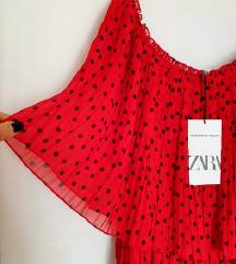 ⭐ZARA crvena polka dots bluza-NOVO⭐
