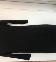 uska crna haljina do koljena