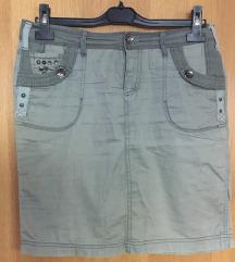 Military mini suknja