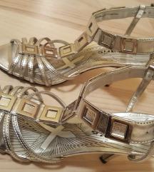 Tamaris srebrne sandale 38