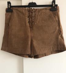 Kratke hlače od prave kože