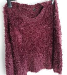 %% 45kn Mekani bordo pulover M