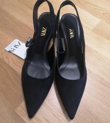 Zara crne cipele block peta