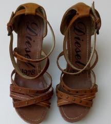 DIESEL kožne sandale pune pete 37