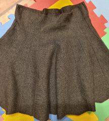 Siva zimska suknja M/L  *prodaja/zamjena*