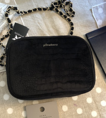 Crna torbica od pliša Primadona Italy