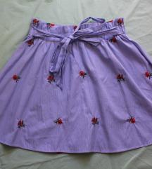 Plava suknja sa cvjetićima