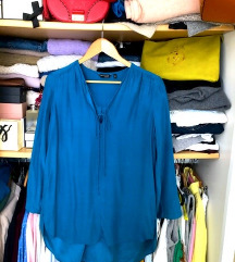 NOVO Massimo Dutti bluza- 100% svila