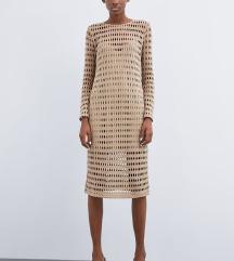 Zara pletena haljina NOVO