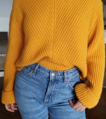 Mango žuti pulover s V izrezom