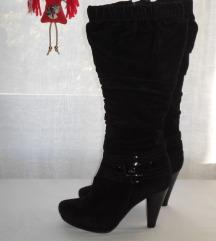 Visoke crne čizme br.37