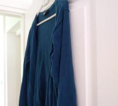 plavi pulover vesta