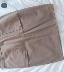 Uska maslinasta suknja zara