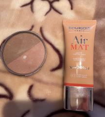 Bourjoirs Air Mat puder + Artdeco bronzer