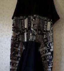 Crno bijela haljina/tunika - sniženo!