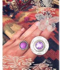 Prsten ljubičasti kristal