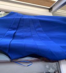 Plava svecana haljina 42/44