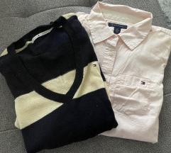 Tommy Hilfiger džemperić + košulja