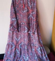 Duga ljetna boho haljina plus size, rezerv.