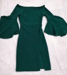 Tamnozelena haljina