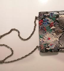 MANGO zmijska torbica