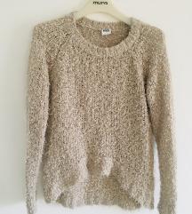 Vero Moda bež čupavi pulover vel M