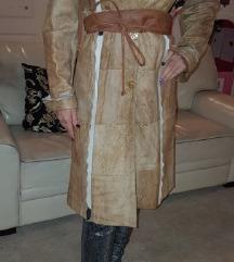Kožni kaput s krznom