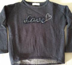 Zara sweatshirt majica vel. 9-10 140