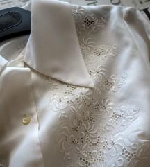 Vintage bluza sa rupičastim vezom, osamdesete